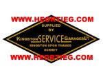 Kingston Service Garages Motorcycles Dealer Decals Transfers DDQ51